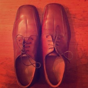 Brown Rockport leather dress shoes